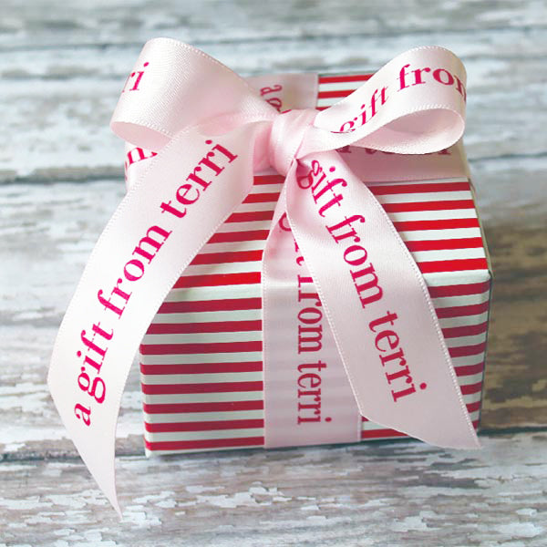 "Valentine Personalized Satin Ribbon 7/8"" - 36 Colors"