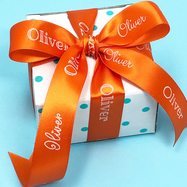 "7/8"" Personalized Satin Name Ribbon"