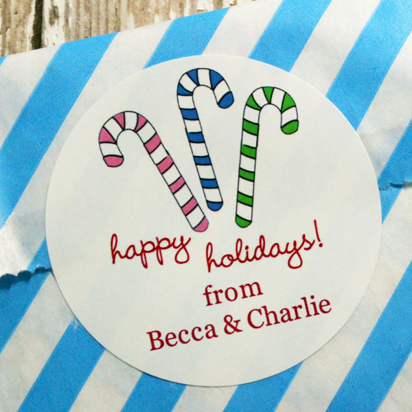 Candy Canes Gift Stickers
