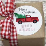 Christmas Truck Gift Stickers