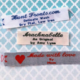 Woven Label F213 3 Lines of Text