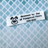 Woven Label #F272 - 3 Lines of Text