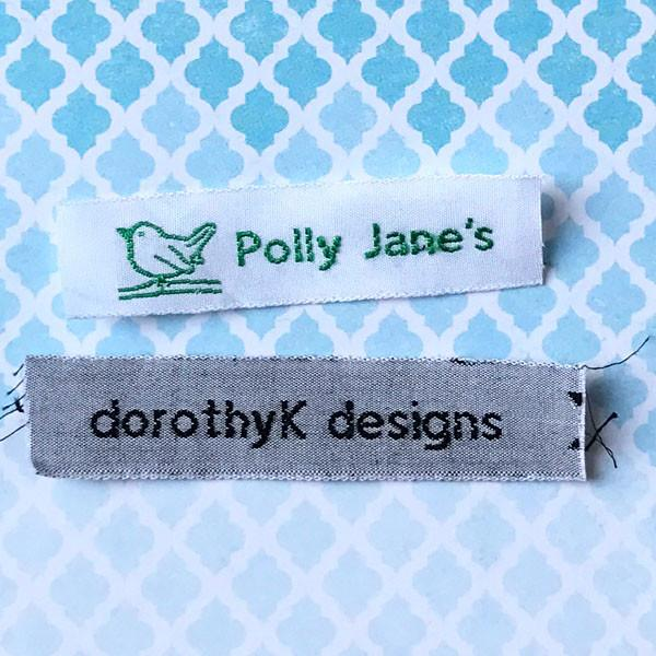 Woven Label F34 One Line of Block Text