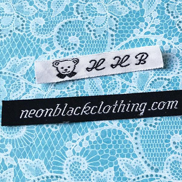 Woven Label #F6-1 Line of Text