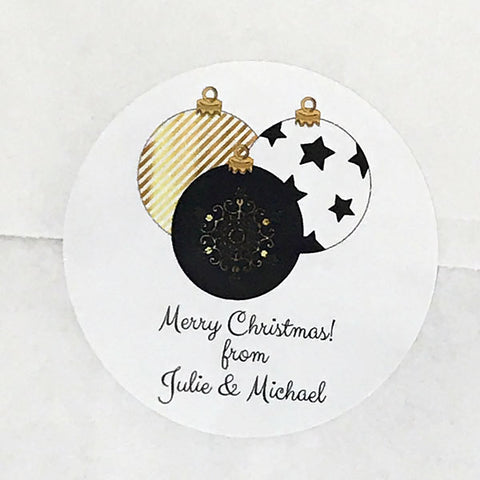 Elegant Ornaments Gift Stickers