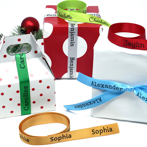 Holiday Personalized Ribbon by the Yard