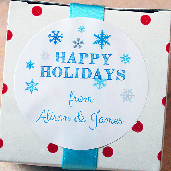 Snowflakes Gift Stickers