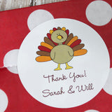 Round Turkey Gifts Stickers