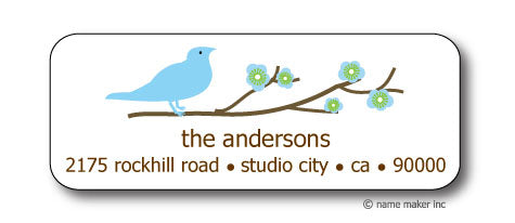 Blue Bird Address Stickers