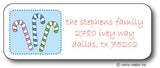 Candy Canes Design Address Stickers