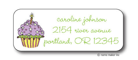Cupcake Address Stickers