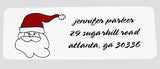 Santa Address Stickers