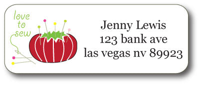 Pin Cushion  Address Stickers