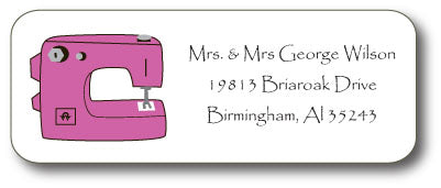 Sewing Machine Address Stickers