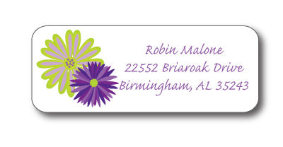 Gerber Daisy Address Stickers