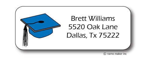 Grad Cap Address Stickers