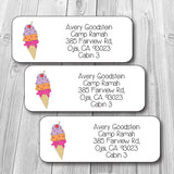 Ice Cream Address Stickers