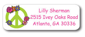 Peace Flower Address Stickers