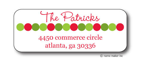 Xmas Dot Address Stickers