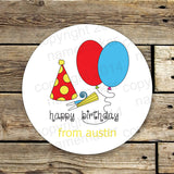 Boys Birthday Gift Stickers