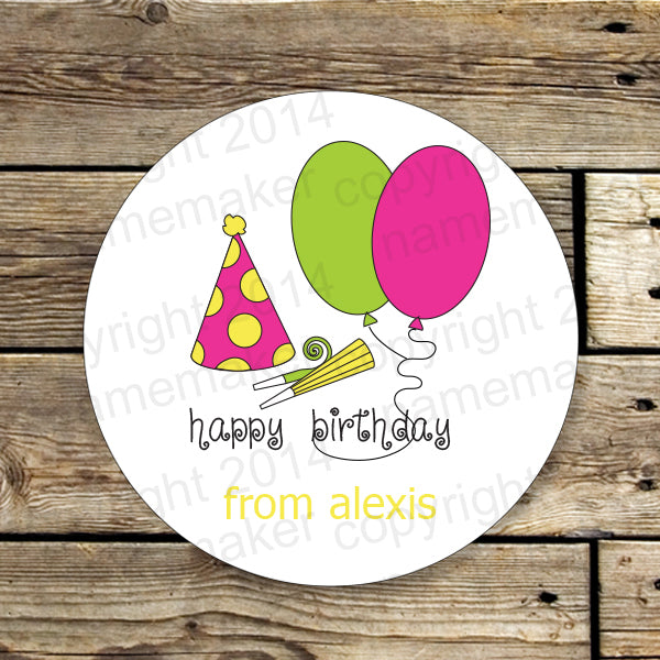 Girls Birthday Gift Stickers