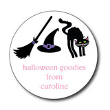 Round Black Cat Bunny Gift Stickers