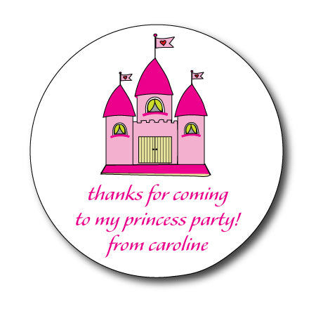 Round Princess Castle Gift Stickers