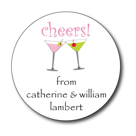 Round Cheers Gift Stickers