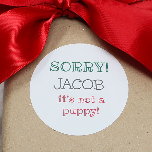 It's Not a Puppy Gift Stickers