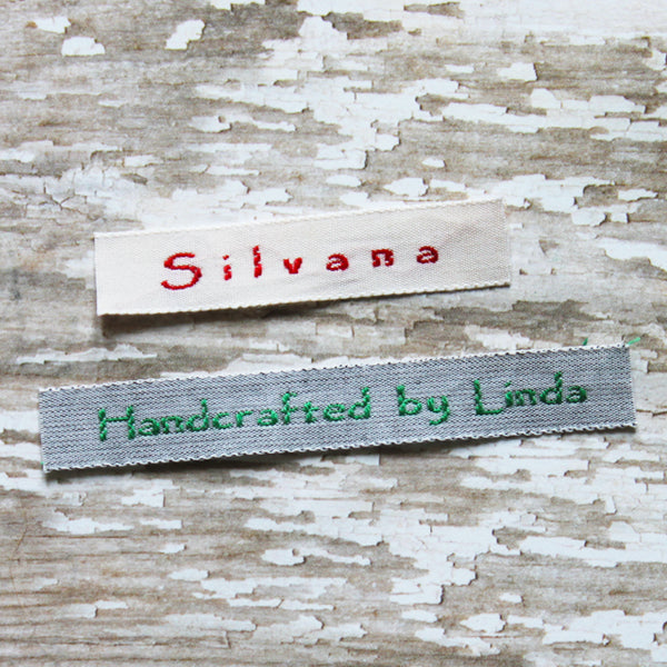 Woven Label #F14- 1 Line of Text