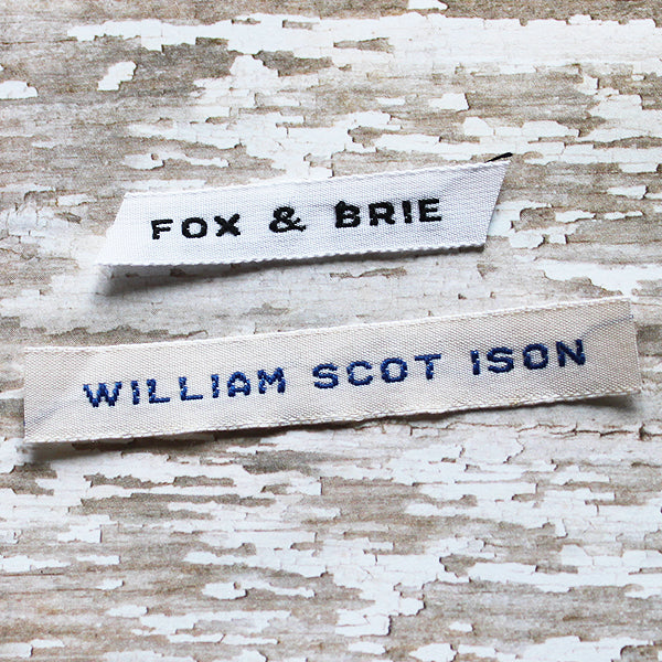 Woven Label #F2 - 1 Line ALL CAPS