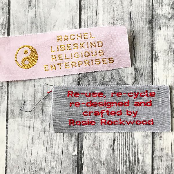 Woven Label F680- 4 Lines of Block Text