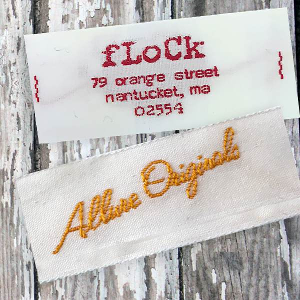 "1"" Cotton Logo Labels"