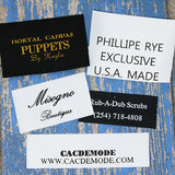 Custom Satin Labels 1-5 lines