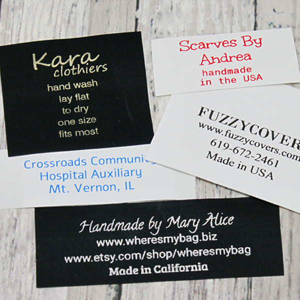 Custom Nylon Text Labels 1-6 lines