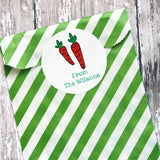 Easter Carrot  Gift Stickers