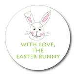 Round Easter Bunny Gift Stickers