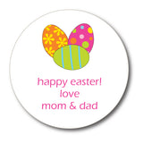 Round Easter Eggs Gift Stickers