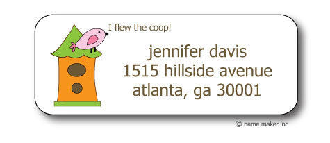 FlewThe Coop Address Stickers