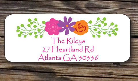 Floral Border Address Stickers