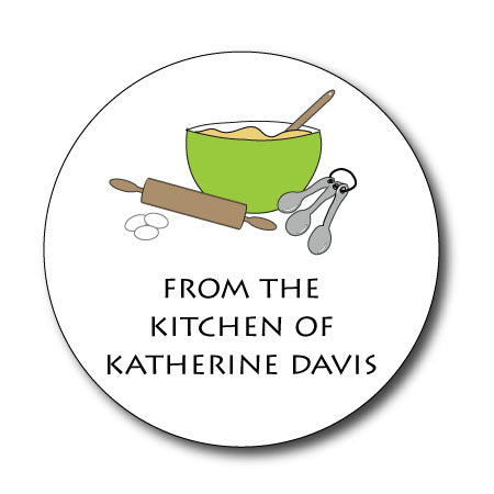 Round In The Kitchen Gift Stickers
