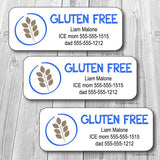Gluten Free Waterproof Label