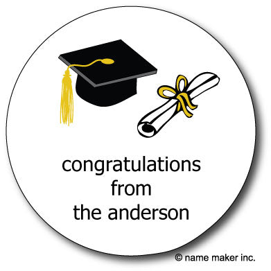 Round Cap & Diploma Gift Stickers