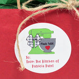 Personalized Green Mixer Gift Stickers