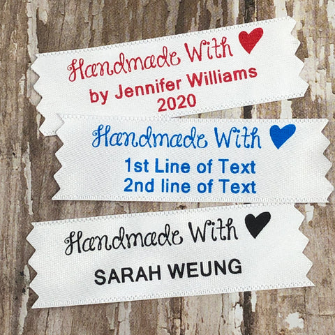 Handmade with Heart Printed Label