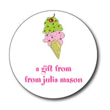 Round Ice Cream Gift Stickers