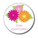 Round In Bloom Gift Stickers