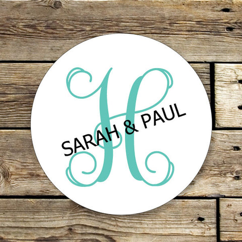 Large Monogram Gift Stickers