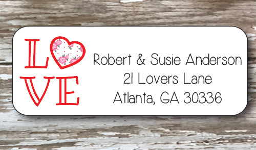 Love Address Stickers