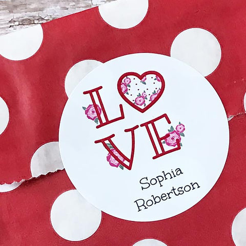 Love Valentine Gift Stickers
